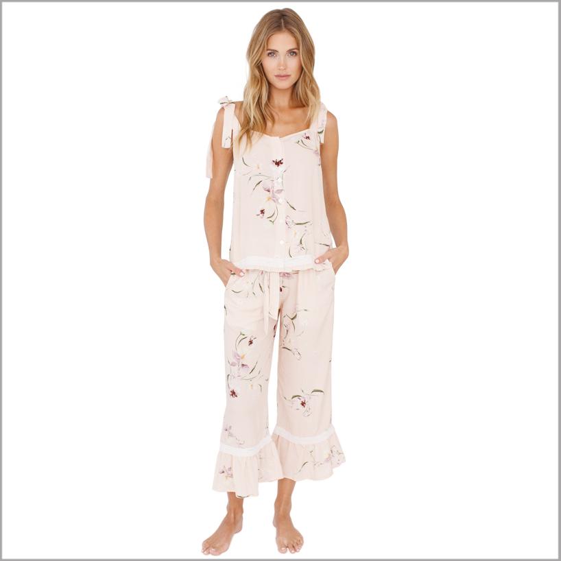 bridesmaid pajamas flounce set. set of 8
